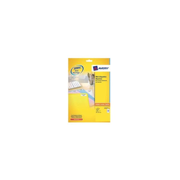 AVERY Boîte de 1200 étiquettes laser blanc 22 x 12,7 mm L7653-25