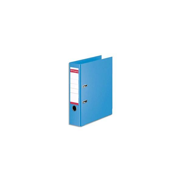 PERGAMY Classeur à levier en polypropylène intérieur/extérieur. Dos 8cm. Format A4. Co