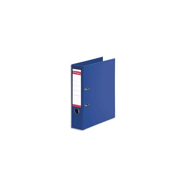 PERGAMY Classeur à levier en polypropylène intérieur/extérieur. Dos 8 cm. Format A4. C