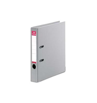 PERGAMY Classeur à levier en polypropylène intérieur/extérieur. Dos 5 cm. Format A4. Coloris gris