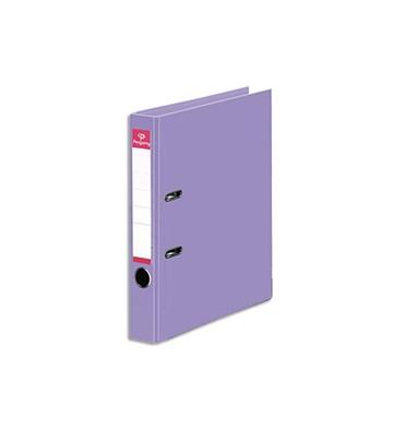 PERGAMY Classeur à levier en polypropylène intérieur/extérieur. Dos 5 cm. Format A4. Coloris violet