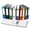 PERGAMY Classeur à levier en papier recyclé intérieur/extérieur. Dos 8 cm. Format A4. Coloris bleu moyen