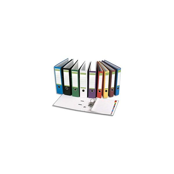 PERGAMY Classeur à levier en papier recyclé intérieur/extérieur. Dos 8 cm. Format A4.