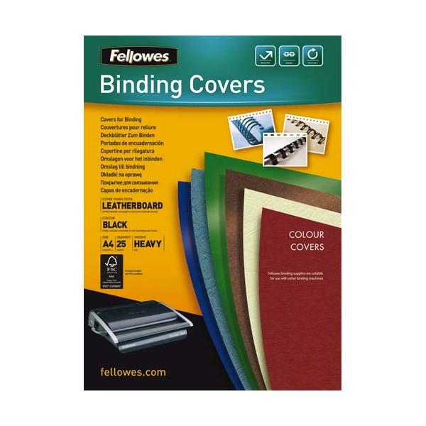 FELLOWES Boîtes de 25 plats de couvertures DELTA format A4 noir