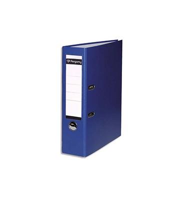 PERGAMY Classeur à levier en polypropylène extérieur/intérieur papier. Dos 8 cm. Coloris bleu clair