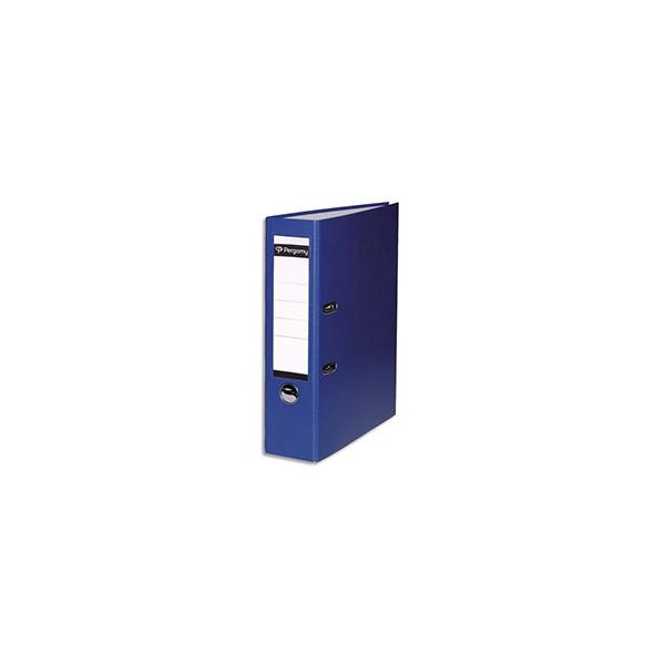 PERGAMY Classeur à levier en polypropylène extérieur/intérieur papier. Dos 8 cm. Color