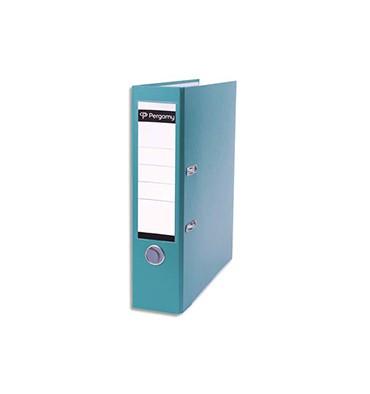 PERGAMY Classeur à levier en polypropylène extérieur/intérieur papier. Dos 8 cm. Coloris vert