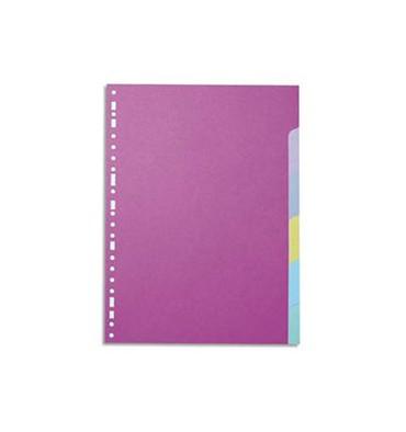 5 ETOILES Jeu d'intercalaires 6 positions en carte colorée 160g A4+