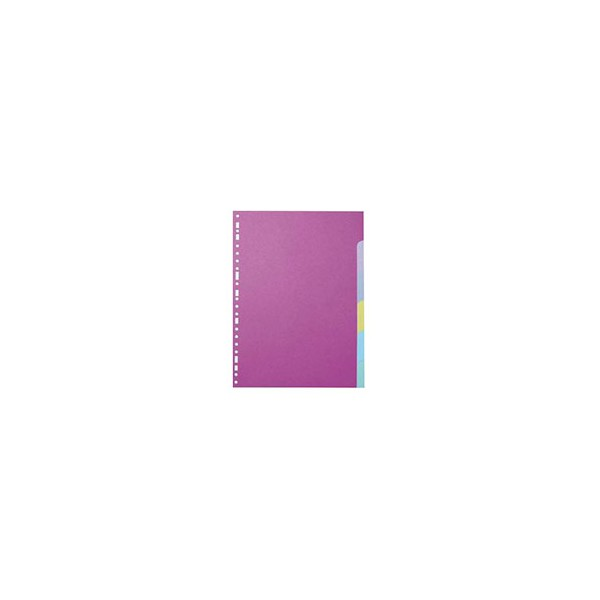 5 ETOILES Jeu d'intercalaires 6 positions en carte colorée 160g A4