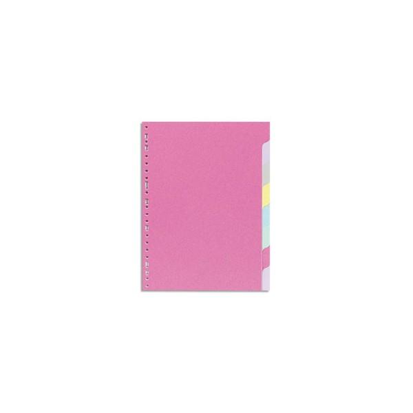 5 ETOILES Jeu d'intercalaires 8 positions en carte recyclée 170g. Format A4