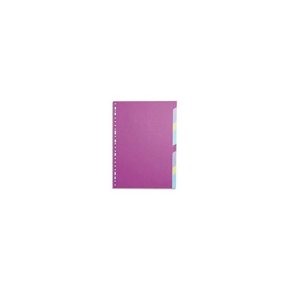 5 ETOILES Jeu d'intercalaires 12 positions en carte colorée 160g A4