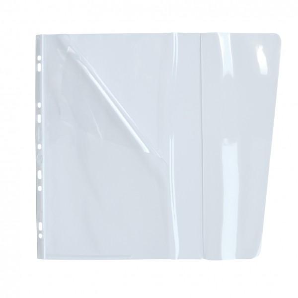 ELBA Sachet de 10 pochettes à ouverture médiane, 2 rabats, en PVC 18/100e, perforation 9