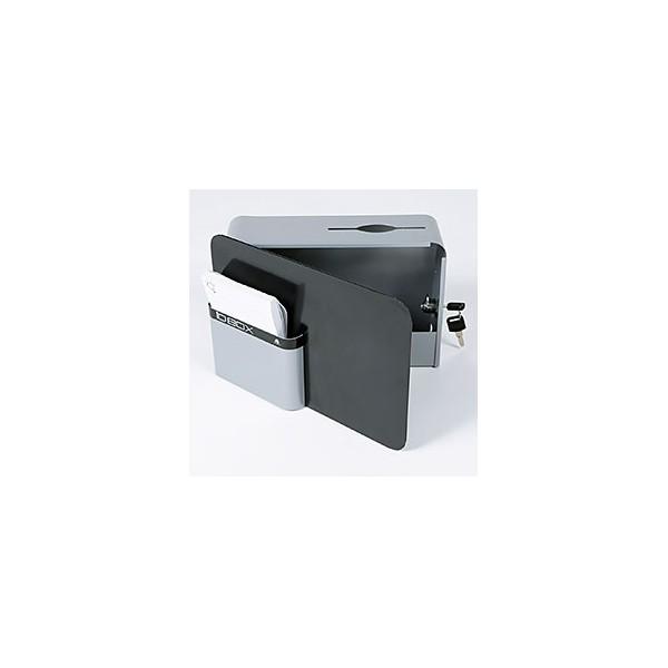 ALBA Boîte à idées IDBOX fermeture à clé, 2 fournies, compartiment fiches - 28 x 19 x 10,5 cm gris (photo)
