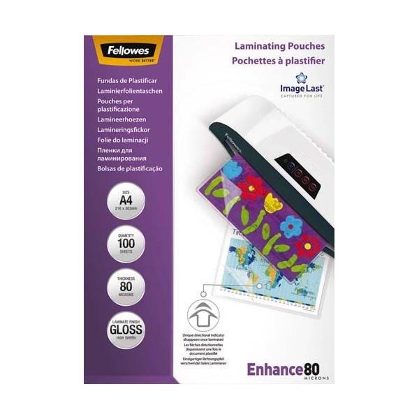FELLOWES Pack de 100 pochettes Imagelast A4, 2x 80 microns