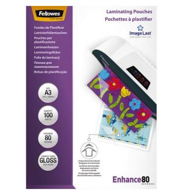 FELLOWES Pack de 100 pochettes Imagelast A3, 2x 80 microns