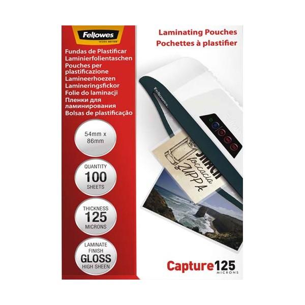 FELLOWES Pack de 100 pochettes Imagelast 2x 125 microns carte de visite, 54 x 86 mm