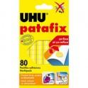 UHU Etui de 80 Pastilles adhésives jaunes et prédécoupées Patafix