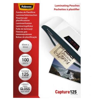 FELLOWES Pack de 100 pochettes Imagelast 125 microns badges, 64 x 95 mm