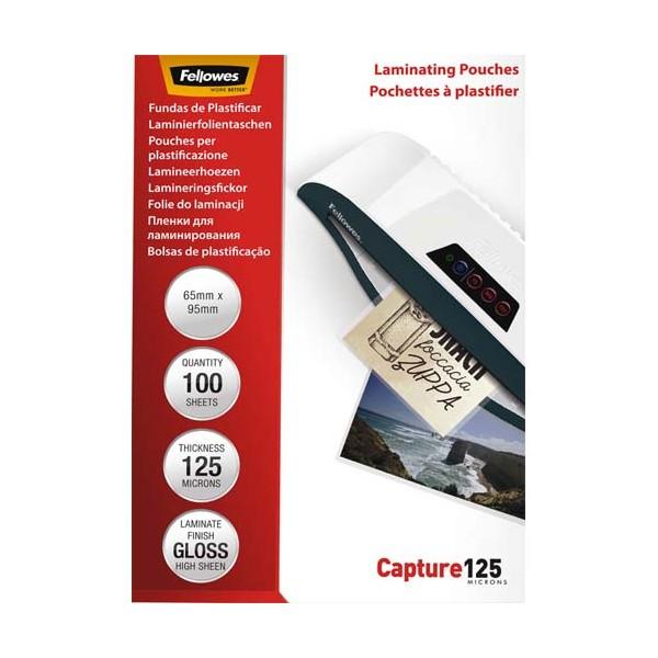 FELLOWES Pack de 100 pochettes Imagelast 2x 125 microns badges, 64 x 95 mm