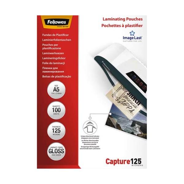FELLOWES Pack de 100 pochettes Imagelast A5, 2x 125 microns