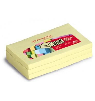 PERGAMY Bloc repositionnable de 100 feuilles 7,6 x 12,7 cm jaune