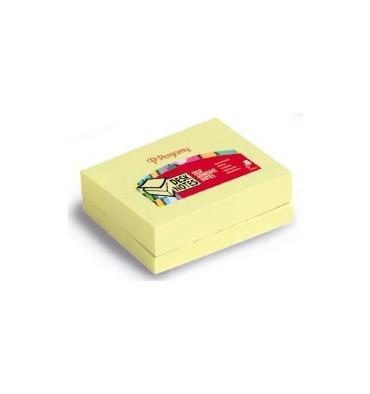 PERGAMY Lot de 12 blocs repositionnable de 100 feuilles 3,8 x 5,1 cm jaune
