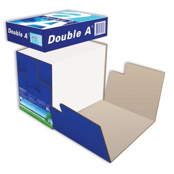 DOUBLE A Box de 2500 feuilles papier extra blanc Premium A4 80g CIE 165