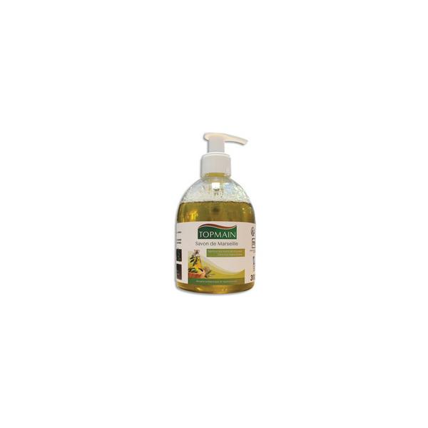 TOPMAIN Flacon poussoir 300 ml Savon de Marseille extra pur liquide à huile d'olives