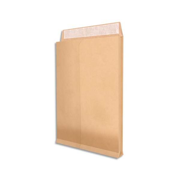 NEUTRE Paquet de 25 pochettes kraft armé brun 120 g, 3 soufflets de 5 cm, C4 format 229 x