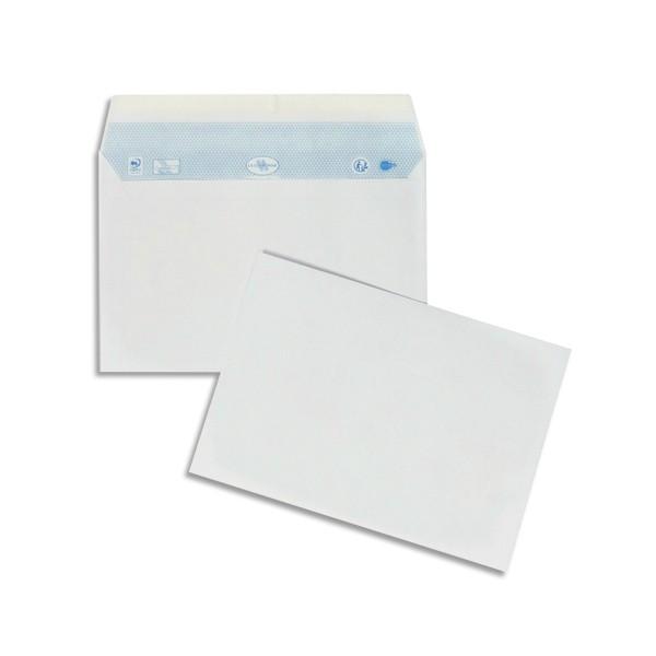 LA COURONNE Boîte de 200 enveloppes blanches auto-adhésives 90g format 162X229mm C5