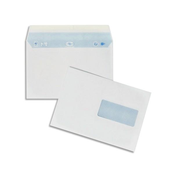 LA COURONNE Boîte de 200 enveloppes blanches auto-adhésives 90g format 162 x 229 mm C5 f