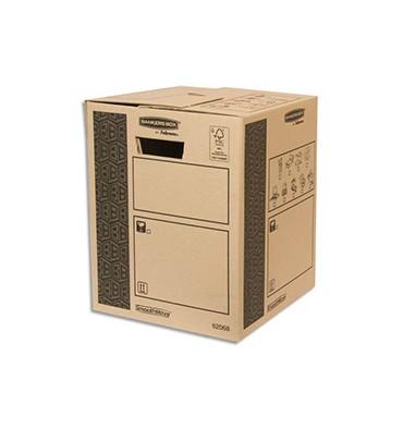 BANKERS BOX Caisse multi-usage 30 x 37 x 30 cm montage auto 100% recyclé et recyclable
