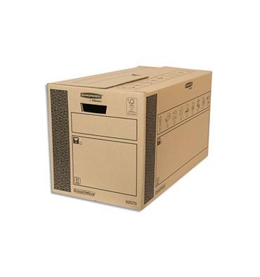 BANKERS BOX Caisse multi-usage 35 x 37 x 66 cm montage auto 100% recyclé et recyclable