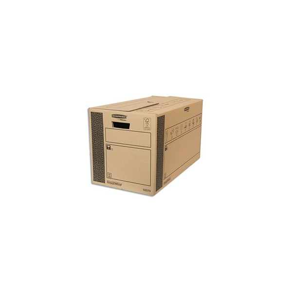 BANKERS BOX Caisse multi-usage 35 x 37 x 66 cm montage auto 100% recyclé et recyclable (photo)
