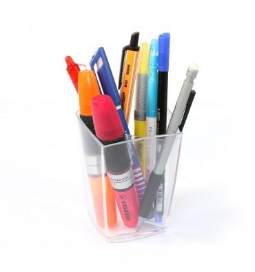 5 ETOILES Pot à crayons en polystyrène coloris cristal