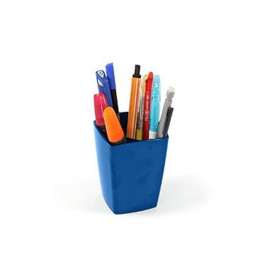 5 ETOILES Pot à crayons en polystyrène coloris bleu