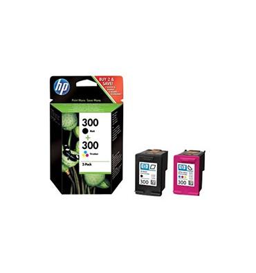 HP Combo pack cartouches jet d'encre noir et couleur N°300