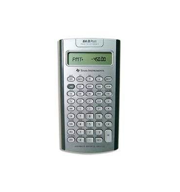 TEXAS INSTRUMENTS Calculatrice financière à 10 chiffres, BA-II-PLUS-PRO, coloris argent