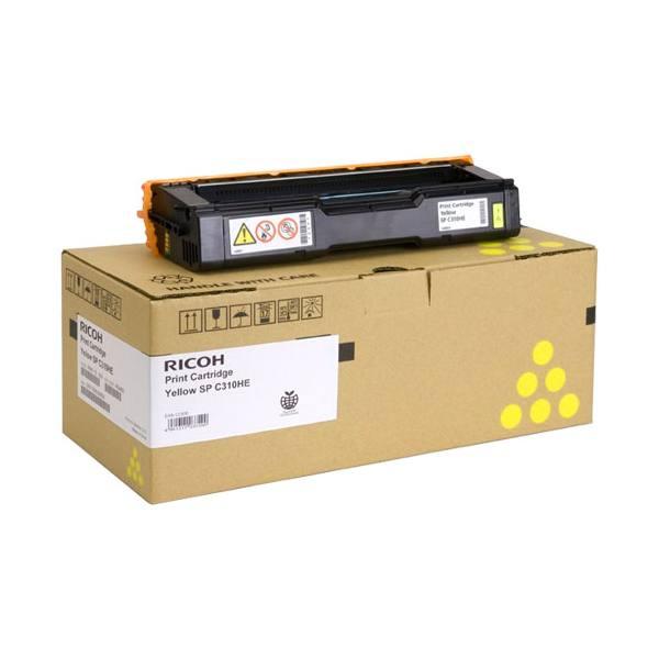 RICOH Cartouche toner laser haute capacité cyan SPC310 AIO - 407635