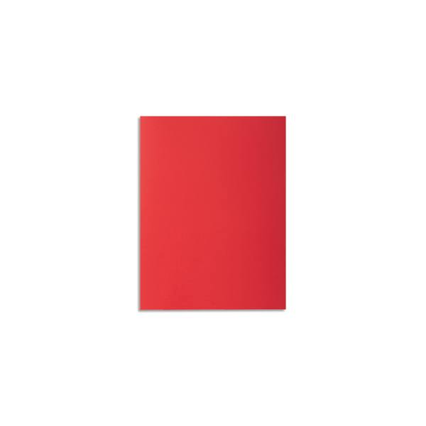 EXACOMPTA Paquet de 100 chemises Rock's en carte 210 g, coloris rouge