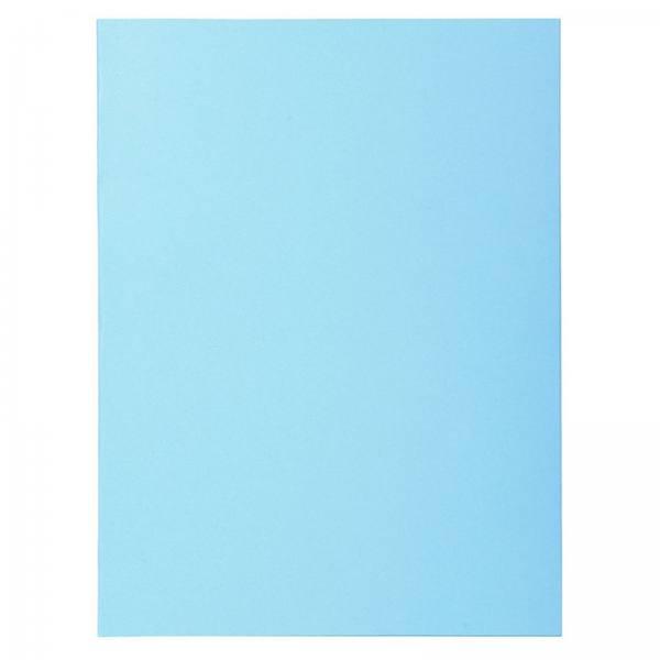 EXACOMPTA Paquet de 100 chemises Super 250 en carte 210 g, coloris bleu clair