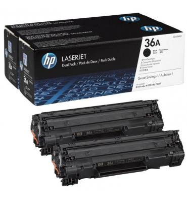 HP Twin pack cartouches toner laser noir 36A - CB436AD