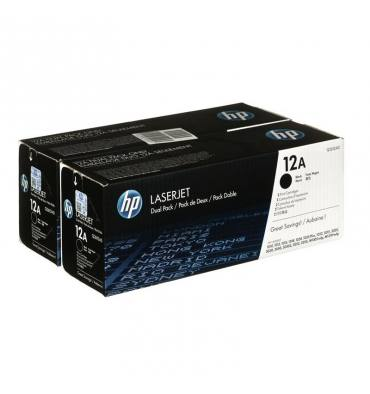 HP Twin Pack Cartouches toner laser laser noir 12A - Q2612AD