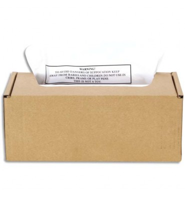 FELLOWES Boîte de 50 sacs 94L pour destructeurs AutoMax 300 et 500C