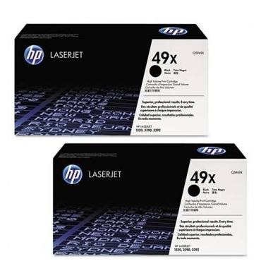 HP Twin pack cartouches toner laser noir 49X - Q5949XD