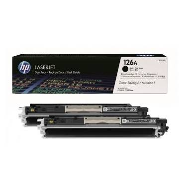 HP Twin pack cartouches toner laser noir N°126A - CE310AD