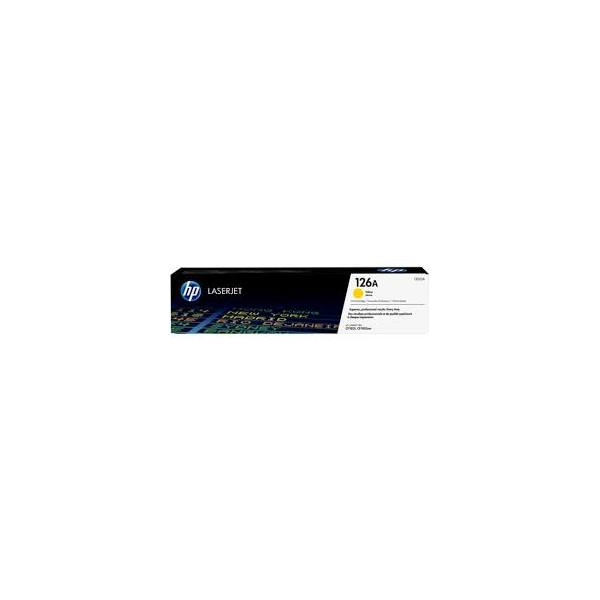 HP Cartouche toner laser jaune N°126A - CE312A