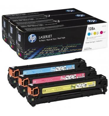 HP Tri pak cartouches toner laser couleur 128A - CF371AM