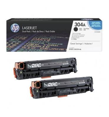 HP Twin pack cartouches toner laser noir 304A - CC530AD