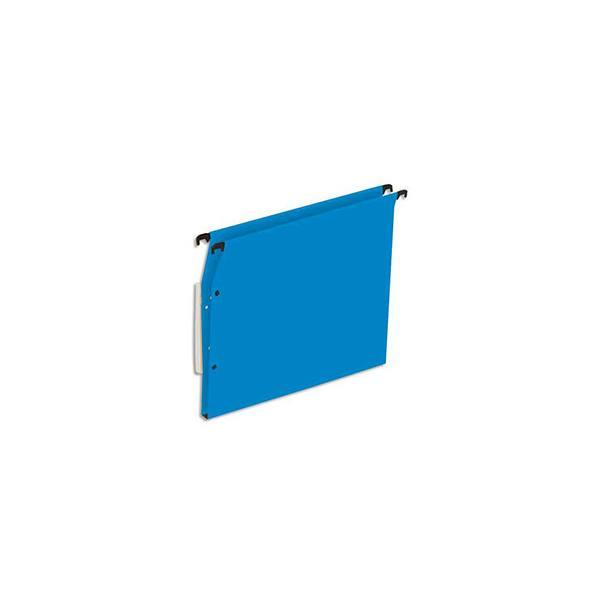 5 ETOILES Boîte de 25 dossiers suspendus ARMOIRE en kraft 220g. Fond 15 mm, volet agrafage + pression. Bleu (photo)